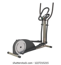Elliptical trainer or cross-trainer, 3D rendering isolated on white background
