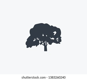 Elm tree icon isolated on clean background. Elm tree icon concept drawing icon in modern style.  illustration for your web mobile logo app UI design.