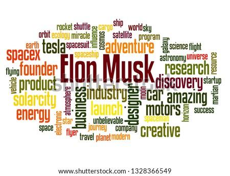 Elon Musk word cloud