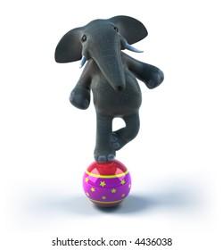 Elphant on a balloon