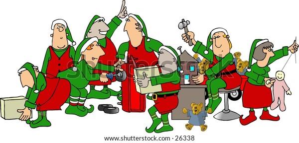 Elves in Santa's Workshop