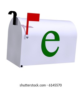 E-mail concept isolated on white