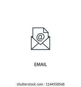 Email concept line icon. Simple element illustration. Email concept outline symbol design from Workspace set. Can be used for web and mobile UI/UX
