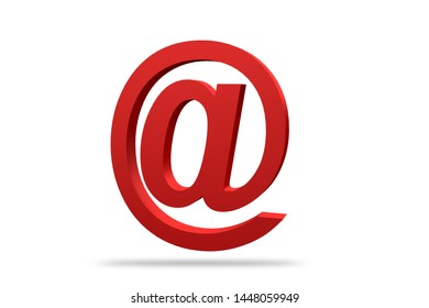 Email Symbol, 3d render Email Symbol Isolated on white Background, 3D illustration,