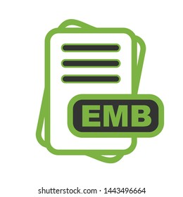 EMB  File Format Icon  For Your Project