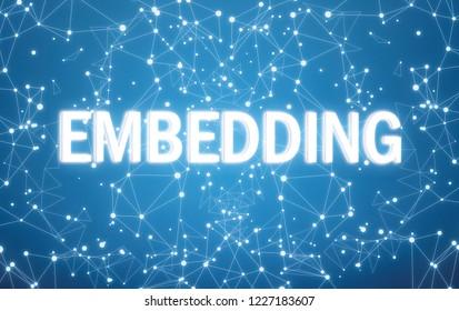 Embedding interface on blue network background