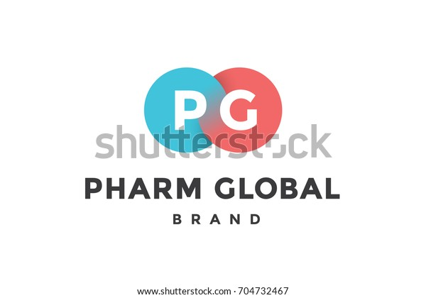 Emblem Business Company Two Circle Letter Stock Illustration 704732467