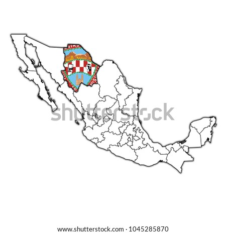 Royalty Free Stock Illustration Of Emblem Chihuahua State On Map