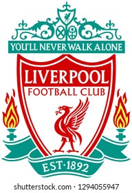 "The emblem of the football club ""Liverpool"". England"