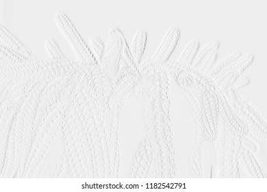 Embossed cactus on background grey