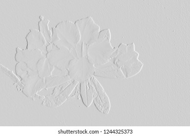 Embossed leave and flower texture