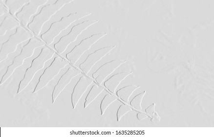 Embossed leaves with background gray can be use for wallpaper,card and useful background
