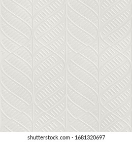 Embossed motif pattern on paper background, seamless texture, 3d illustration