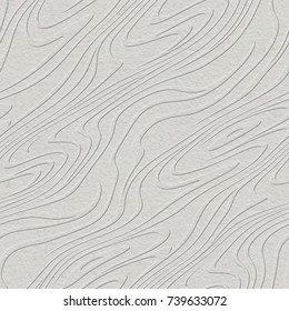 Embossed pattern on natural paper background, seamless texture, 3d illustration