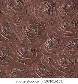 Embossed rose pattern background