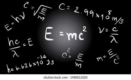 E=mc2 background, Albert Einstein's Equation, physics equation, Nuclear equation