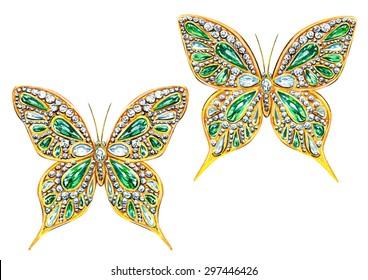 Emerald butterflies