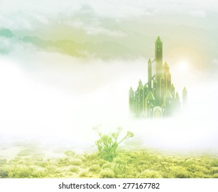 emerald city in mist 2
