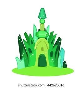 Emerald city square.  Illustration. Raster copy.