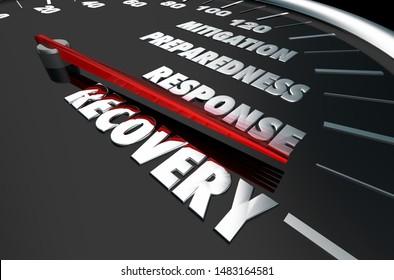 Emergency Mitigation Preparedness Response Recovery 3d Illustration