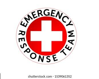 Emergency response team logo isolated in white background