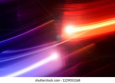 Emergency vehicle, blured background