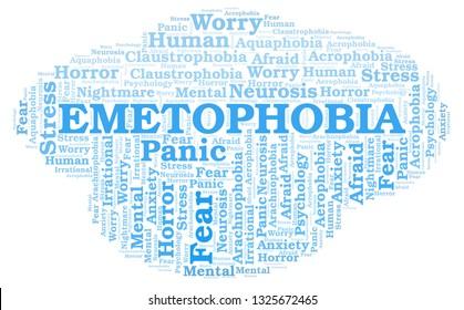 Emetophobia word cloud.