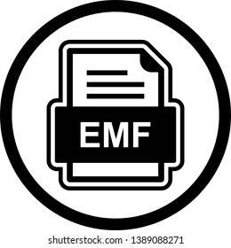 EMF File Document Icon In Trendy Style Isolated Background