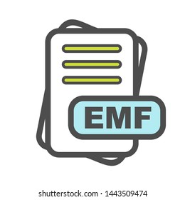 EMF File Format Icon For Your Project