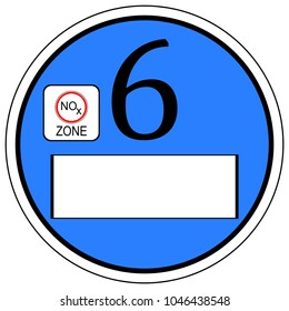 Emission Standard Euro 6 - German Environmental Label - illustration