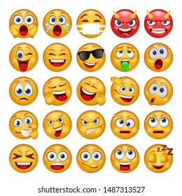 Emoji Face - Flat icons