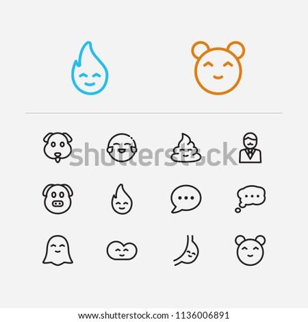 Emoji Icons Set Bubble Emoji Business Stock Illustration - Royalty