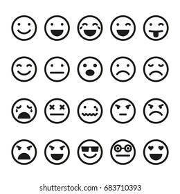 Emoji icons set. Smiley images
