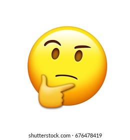 The emoji yellow pondering face with right hand icon