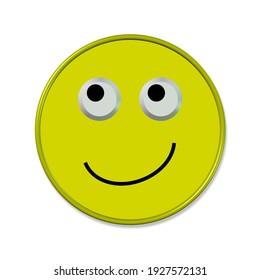 Emoticon in a good mood,3d- illustration