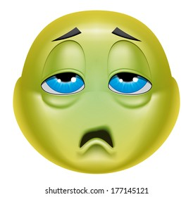 Similar images stock photos vectors of cute sick emoticon emoticon sick thecheapjerseys Image collections