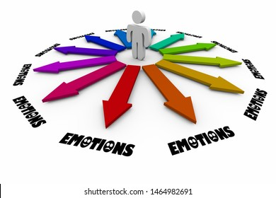 Emotions Feelings Emotional States Choose Choice Decisions 3d Illustration
