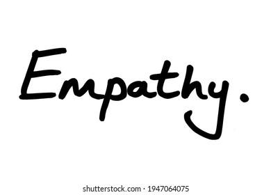 Empathy, handwritten on a white background.