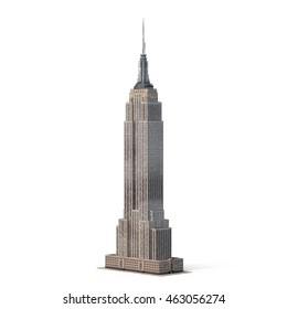 Empire State Building 3D Illustration