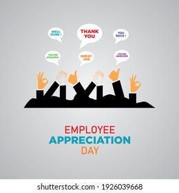 Employee Appreciation Day. First Friday in March. Holiday concept. Template for background, banner, card, poster.