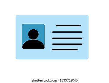 Employee clerk card  vcard icon illustration for graphic design  logo  web site  social media  mobile app