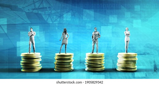 Employee Compensation Report and Salary Review  3d Render