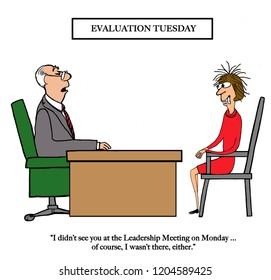 Employee did not attend leadership meeting