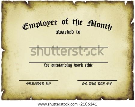employee month certificate stock illustration 2106141 shutterstock