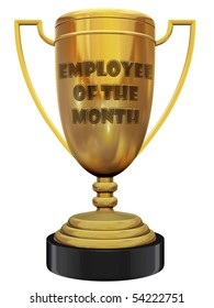 employee of the month trophy