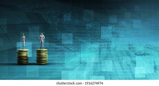 Employee Remuneration and Bonus for Staff Concept 3d Render