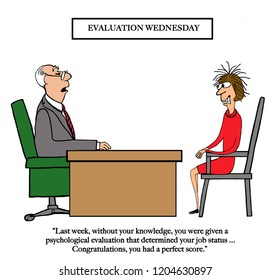 An employee is surprised with an evaluation