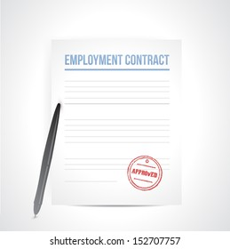 employment contrat illustration design over a white background