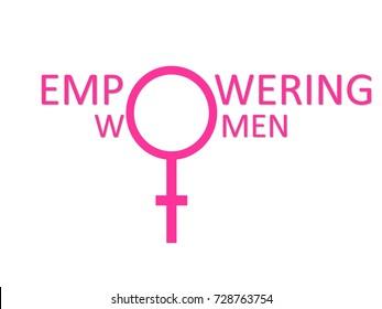 Empowering women illustration concept
