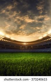 emptry stadium evening